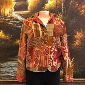 Erin London Vintage Tapestry Patchwork Blazer